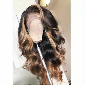 Luxury Lace Front Remy Full Lace Human Hair Wig Balayage Ombre Ash Blonde Brown