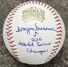 Wayne+Messmer+Signed+2016+World+Series+Baseball+Chicago+Cubs