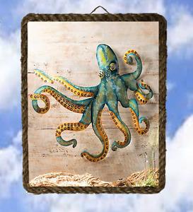 Octopus  Ocean Sea 45 Beach Wall Decor Art Prints Fish lalarry Vintage framed