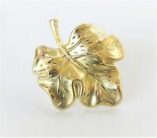 Brosche Nadel Anstecknadel Blatt diamantiert 333 Gold NEU