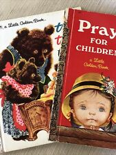Lot of 2 Vintage Little Golden Books Children's Prayers & The 3 Bears