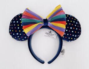 Minnie Headband Rainbow Pride Felt Studded 2021 Disney Parks Ears Limited NWT