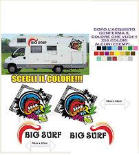 kit adesivi stickers compatibili camper big bear surf