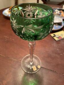 Nachtmann Traube Bohemian Cut Crystal WINE HOCK EMERALD GREEN
