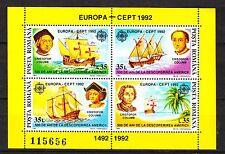 Romania 1992 MNH **Sc 3742 sheet of 4 Mi Bl 271 Discovery of America Columbus