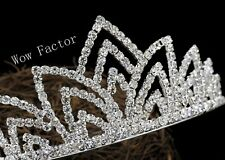 Rhinestone Crystal Silver Plated Bridal Wedding Prom Comb Tiara