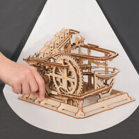 Rokr DIY Marble Run Model Building Kits Waterwheel WoodCrafts Toy for Teens Boys