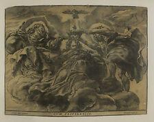 Le couronnement de la vierge, xylographie de C. Jegher d'après P.P. Rubens, 1633