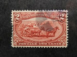 US Stamp Scott #286 ~ Farming in the West 2c 1898 used GR03