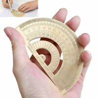 Messing Kupfer Winkelmesser Messwerkzeug Maßstab Schmiege Gradbogen Lineal