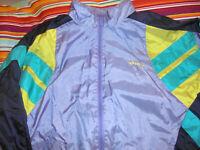 vintage taiwan 80`s ADIDAS Nylon Jacke Sportjacke glanz shiny oldschool D8 L