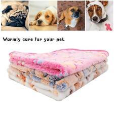 40Pcs Mixed Color Paw Print Warm Fleece Cat Dog Pet Mat Blanket Bed Cushion
