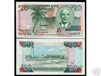MALAWI 20 KWACHA P-27 1993 BOAT AIR PLANE UNC AFRICA WORLD CURRENCY MONEY NOTE