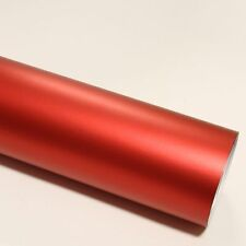 DIN A4 Wrapping Folie Chrom Matt Rot 21cm x 29,7cm Autofolie mit Luftkanälen