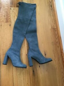 Stewart Weitzman Hilline blue suede over the knee boots, size 8 new w box