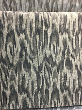 Modern Alyssa Pewter Ikat Chenille fabric by the yard