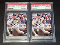 1991 Fleer Ultra Update Jeff Bagwell PSA 8 Lof of 2 HOF Houston Astros