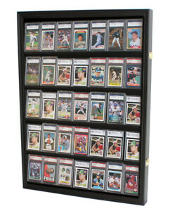 35 Graded Baseball Football Basketball Pokemon Card display Case Frame, CC05-BLA