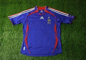 FRANCE NATIONAL TEAM 2006/2007 FOOTBALL SHIRT JERSEY HOME ADIDAS ORIGINAL YOUNG