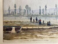 Aquarell Russland? Personen am Flussufer Anonym 1. Hälfte 20. Jahrhundert