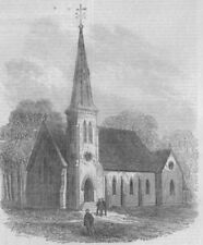 CANADA. St Paul's church (Indian Mission) Brantford, Canada West, print, 1867