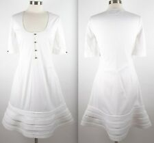 0900e73354 New sz 40 / 4 Valentino runway white fit flare dress with sleeves