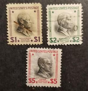 US Scott 832 833 834 $1 $2 $5 Presidential Series Used Stamp Lot G2294