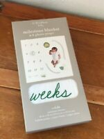 C.R. Gibson Baby Milestone Blanket & 6 Photo Props – blanket is 40 x 40 inches