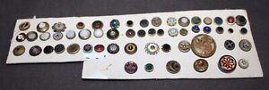 Fabulous Assortment ON CARD Antique Victorian Buttons lot l