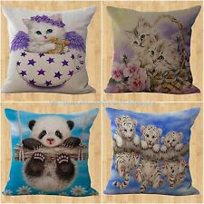 US Seller- wholesale 4pcs pets animals panda cat cushion cover cheap throw