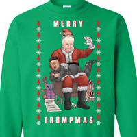 Merry Trumpmas Ugly Christmas Sweater, Donald Trump Tacky Xmas Sweater