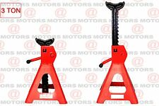 Jack Stands Heavy Duty Steel Adjust From 285mm - 425mm 3 Ton Set Of 2 Color Red