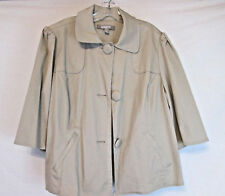 Croft & Barrow Woman Stretch, Camel Peacoat 3 Large Buttons 2 Pockets Size 1X..M