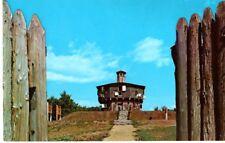 Edgecomb, Maine, Fort Edgecomb Blockhouse Memorial, Davis Island- Postcard