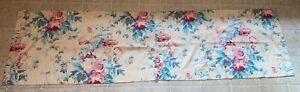 2 Vintage RALPH LAUREN ELSA GRASSLANDS Valances 23x86 Beige Floral Roses USA