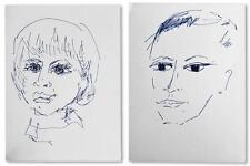 Ébauche de portraits d'enfants non signé