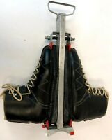 VTG Grenoble Black Leather Vibriam Womens Downhill Ski Boots & Barrecrafter 10 N