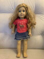 American Girl Doll Caramel Reddish Dusty Blonde Hair Blue Eyes With Clothes