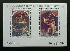 Malta Sovereign Military Order Of Malta Christmas Paintings Mattia 1983 (ms) MNH