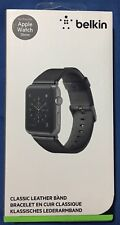New Belkin Classic Leather Apple Watch 38mm Band for Series 1 / 2 / 3 - Black