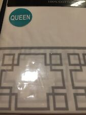 Nautica Bearing Square Queen Sheet Set 100 % Cotton 300 Thread Count