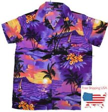 Hawaiian shirt Mens aloha party holiday vacation beach casual tropical