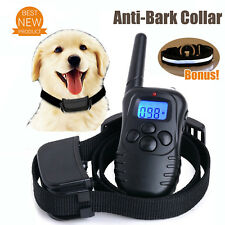 Safe Anti Bark Device Dog Training Collar Stop Barking Vibration Remote AU Stock