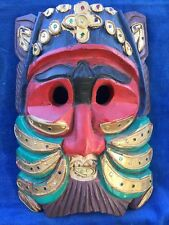 Mask Khon Thai Handmade Suriyaph Ramayana Headdress THAILAND Gold Coin & Jewels
