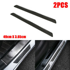 2x Real Carbon Fiber Car Door Scuff Plate Sill Cover Panel Protector 25.5*3.65cm