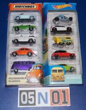 10 X Hot Wheels / Matchbox VW - Kool Kombi, Golf, Beetle, Ghia, Type 181 NEW