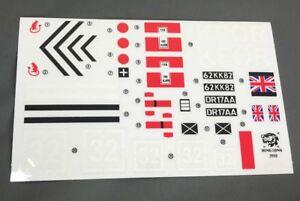 heng long challenger ii tank 1/16 stickers incl Union Jack Desert Rats stickers
