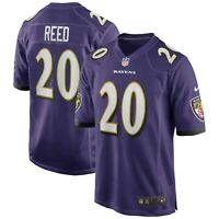 New 2020 NFL Nike Baltimore Ravens Ed Reed Game Retired Player Edition Jersey