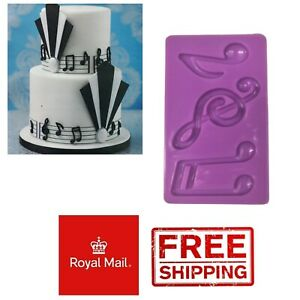 Musical Note Silicone Mould Cake Decoration Mold Baking Music Symbols