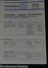 Telefunken Service Manual HIFI-Tuner STT 1 hifi Schaltplan